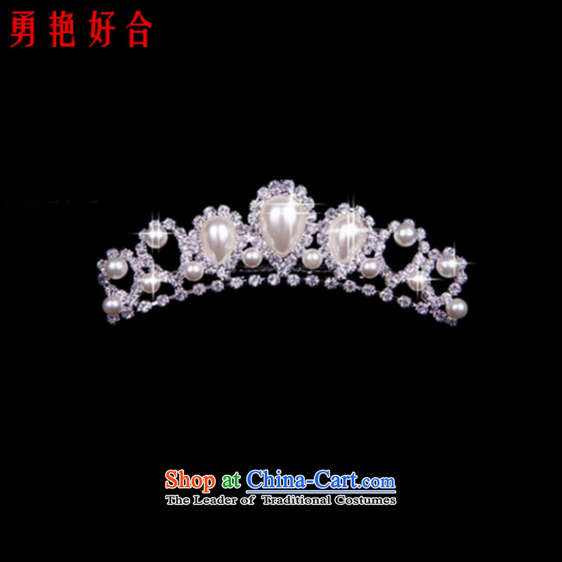 Wedding accessories bride bride jewelry and ornaments three kit Korean crown necklace earrings wedding Jewelry marry earring white crown
