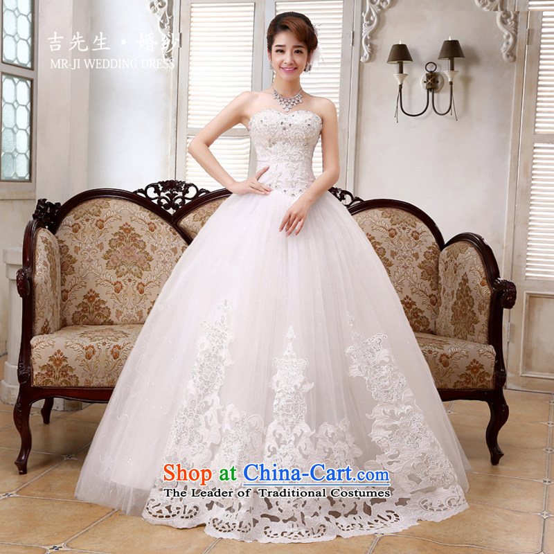Mr.?Fall 2015, Korean sweet Princess Mary Magdalene chest luxury Sau San lace pearl ornaments and large amount of swing wedding white?S
