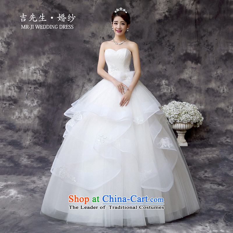 Mr. Guiss��?2015 stylish and simple with breast height waist multi-tier billowy flounces decorated petticoats wedding White?XL