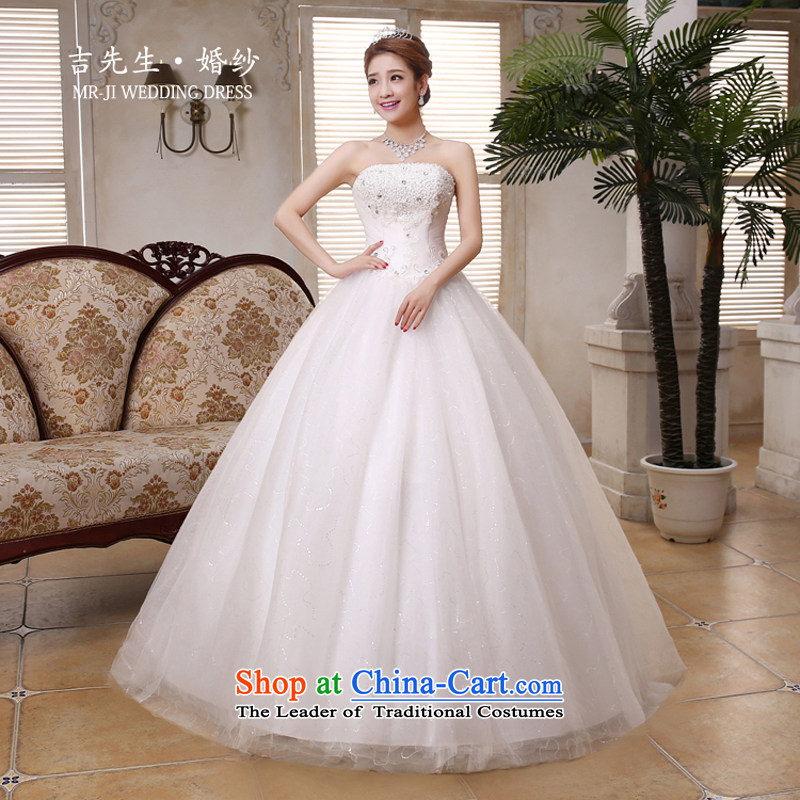 Mr. Guiss��?2015 new elegant & luxurious hand-set in the Pearl River Delta Super waist decorated Wedding White?XXL Sau San
