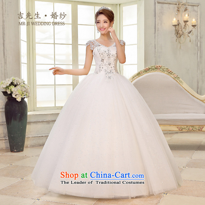 Mr. Guiss��?2015 new high-end luxury pearl ornaments shoulders lace decorated large amount of wedding white customization