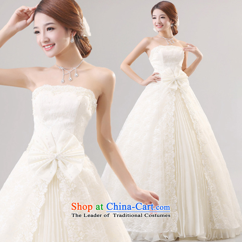 Mr. Guiss��?2015 new luxury decorated in elegant lace anointed breast height waist Sau San wedding white customization