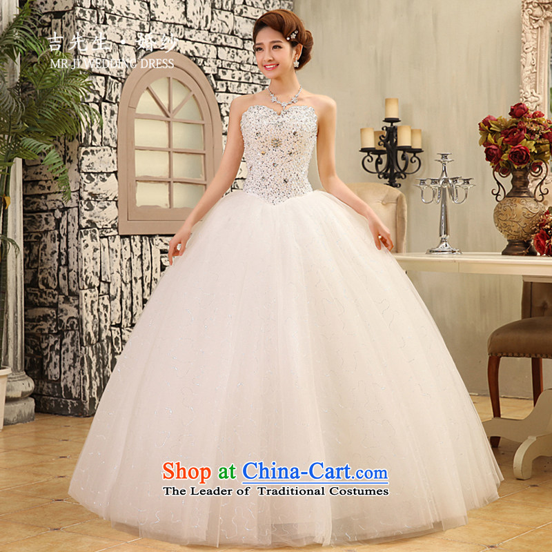?The new 2015, Mr. Korean sweet and high waist video thin Princess Bride petticoats wedding white customization