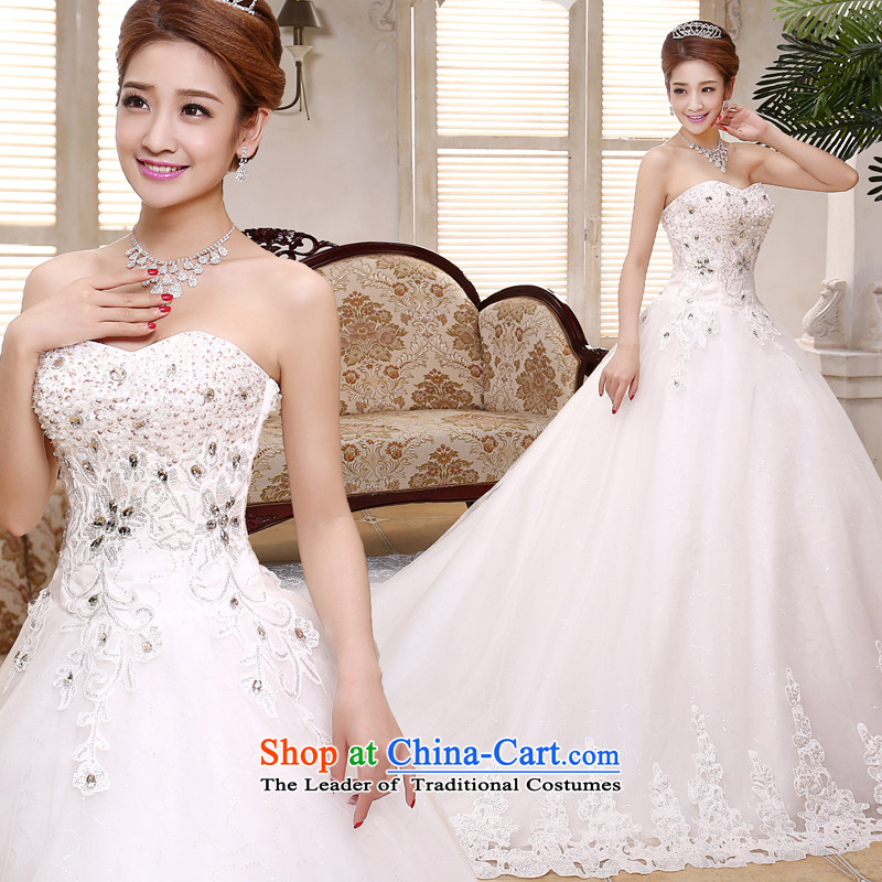 Mr. Guiss��?2015 new anointed chest luxuriously designed for manual pearl ornaments high waist super deluxe Sau San tail wedding white customization
