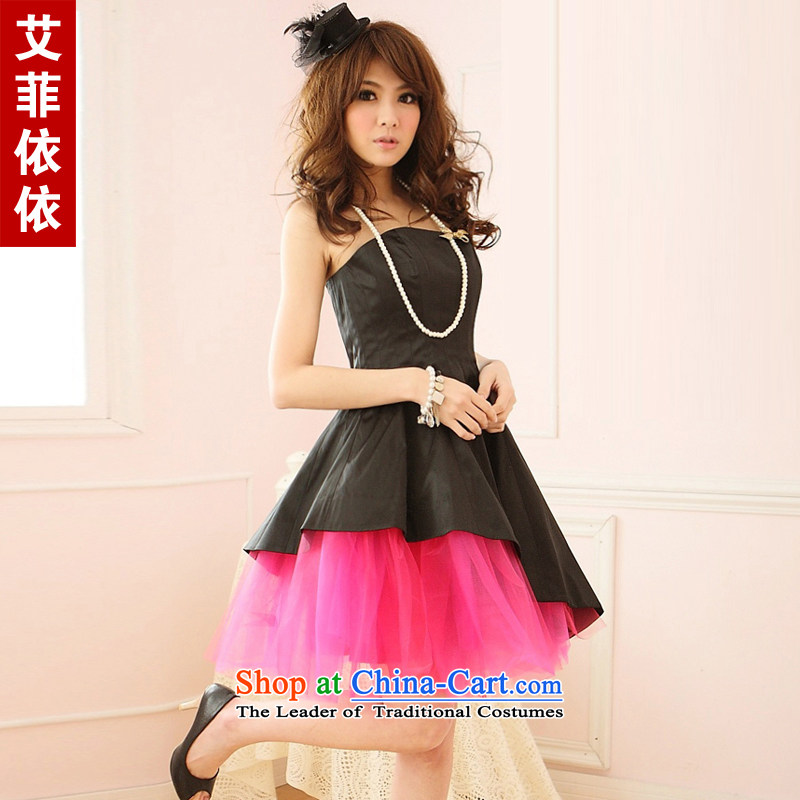 Of the glued to the Spell Checker color large yarn yarn small dress�short version of Korea 2015 bridesmaid sister annual meeting under the auspices of performances of Sau San Foutune of dresses 3417 Black are code