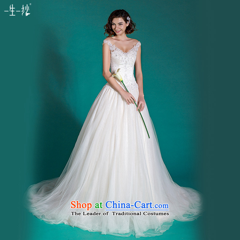 A lifetime of pregnant women wedding package shoulder minimalist princess skirt tail wedding?autumn 2015?401501383?white tailored for not returning the not-for-
