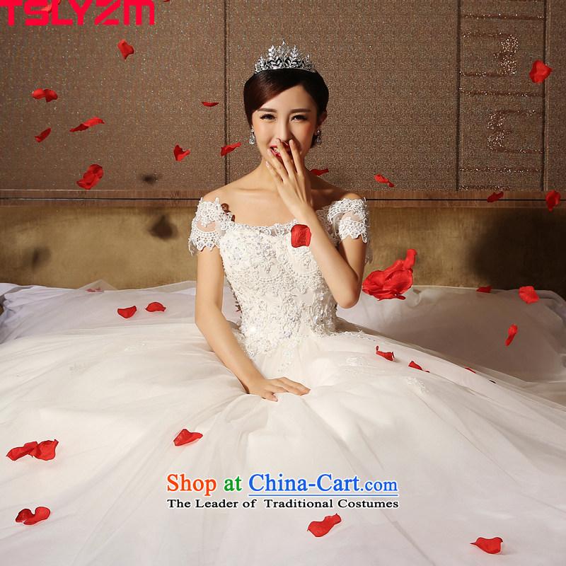The word tslyzm marriages shoulder wedding dresses to align bon bon skirt 2015 new autumn and winter lace back Foutune of video thin wedding dress whitel,tslyzm,,, shopping on the Internet