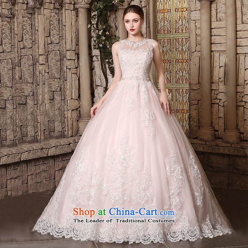 Custom Wedding 2015 dressilyme autumn and winter new boat-shaped for luxury lace princess, bon bon skirt bride wedding dress ivory - no spot?XL