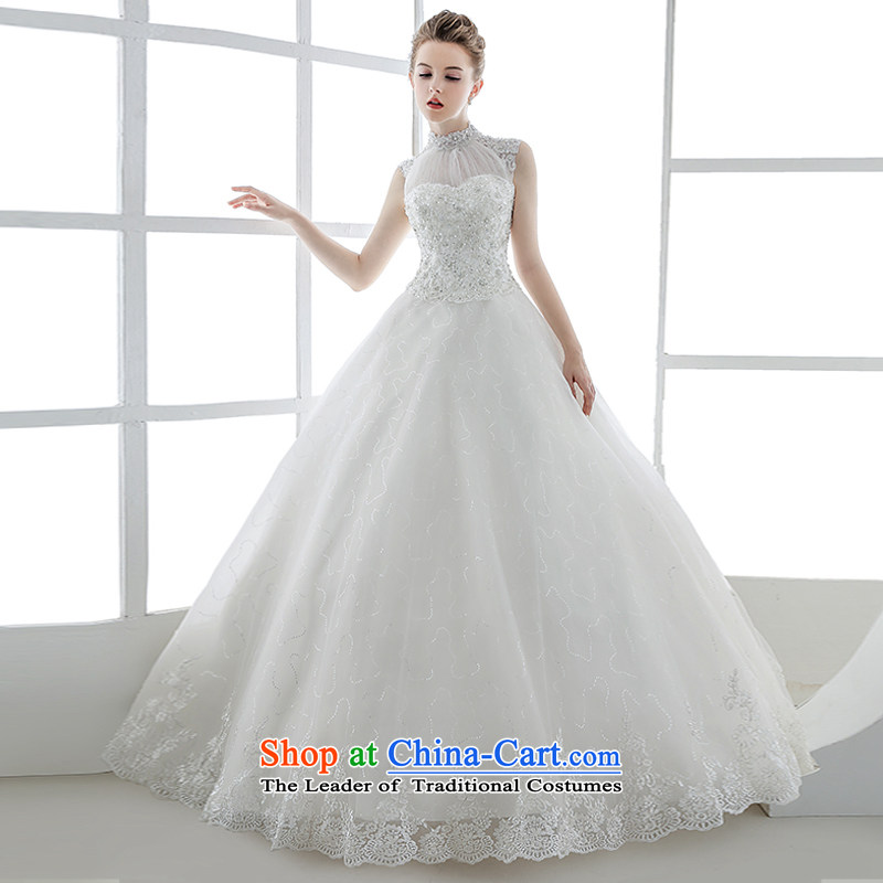 2015 Autumn and winter new Korean pregnant women also hang princess wedding dresses align to bind with European and American retro out of white?S