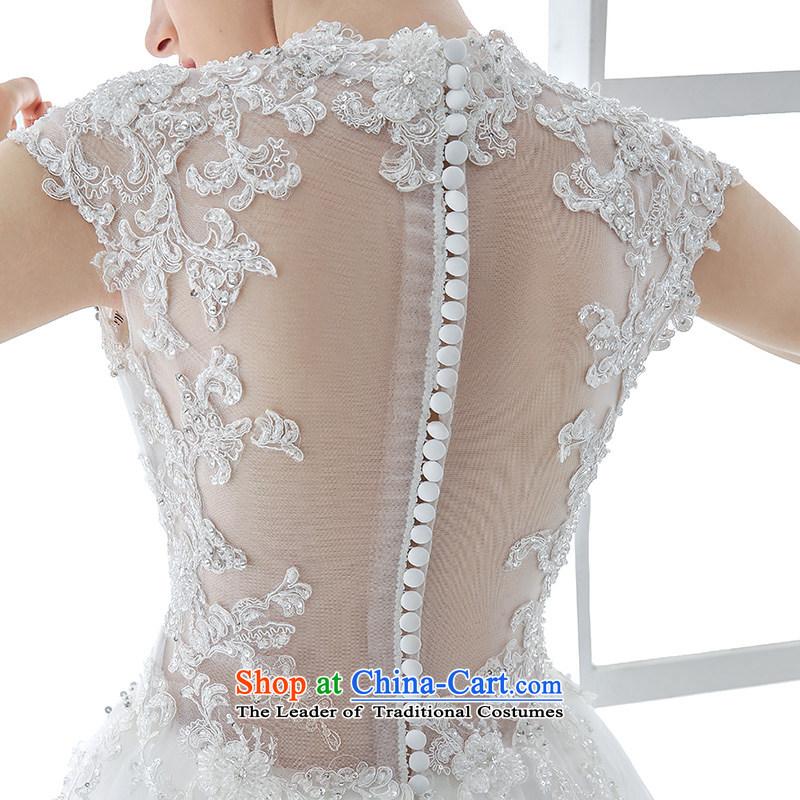 Wedding dress 2015 winter new bride white Korean Won Version Sau San video thin lace long tail large white tail 1.5 m and聽M honeymoon bride.... end shopping on the Internet