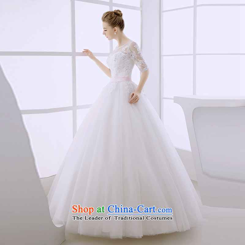 Wedding dress 2015 winter bride shoulders retro bon bon skirt to align the Cuff, Suzhou women made out of white?L