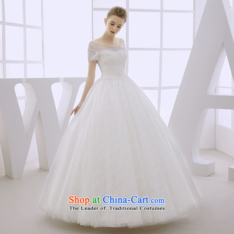 Wedding dress 2015 autumn and winter marriages dual shoulder bags shoulder minimalist Sau San video to bind thin snap out with white?L yarn