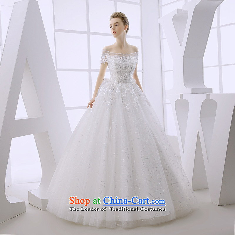 Wedding dress the Word 2015 winter bride shoulder a field for wiping the chest bow ties with Europe and the high-end alignment out of white?S