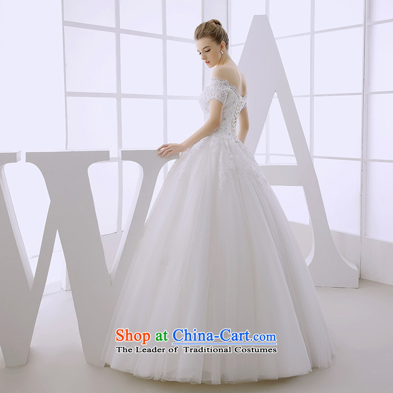 Wedding dress 2015 winter bride a field for wiping the chest-Sau San graphics with Europe and the United States conforms to the thin white huns White?M