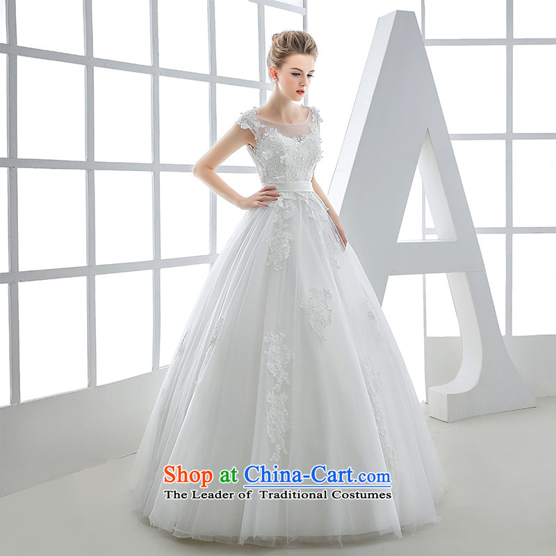Wedding dress 2015 winter bride dual shoulder bags shoulder Sau San video thin back retro bon bon skirt women out of White?XL