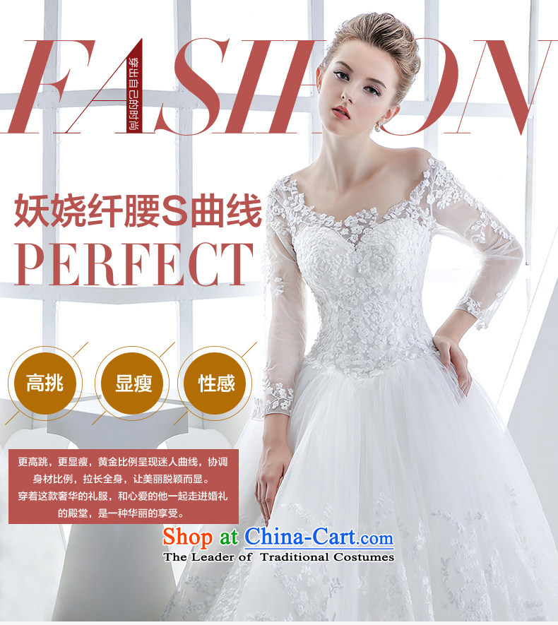 Wedding dress 2015 winter new bride long-sleeved shoulders lace align to bind with the white European-style high-end antique white S picture, prices, brand platters! The elections are supplied in the national character of distribution, so action, buy now enjoy more preferential! As soon as possible.