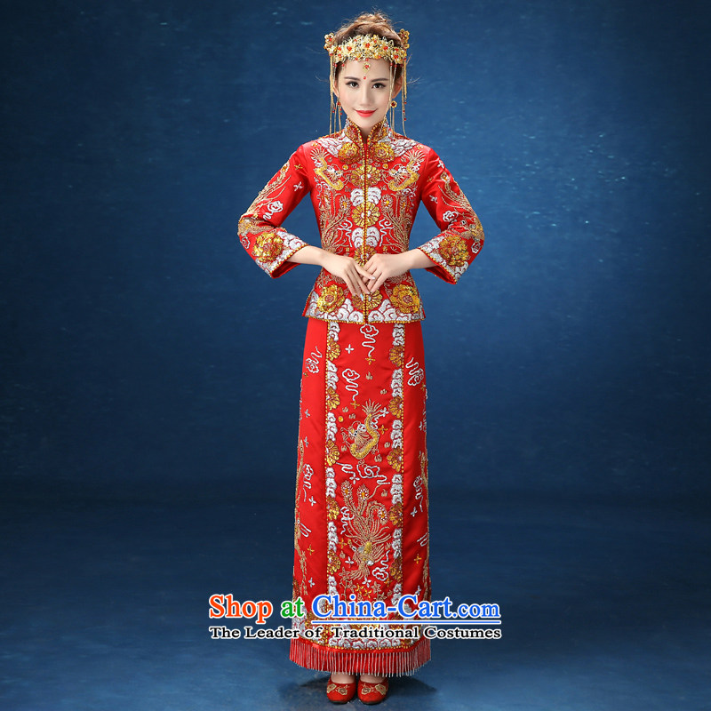 2015 WINTER New Sau Wo Service Bridal CHINESE CHEONGSAM wedding gown marriage thin-soo kimono video    , the ATJ?XL