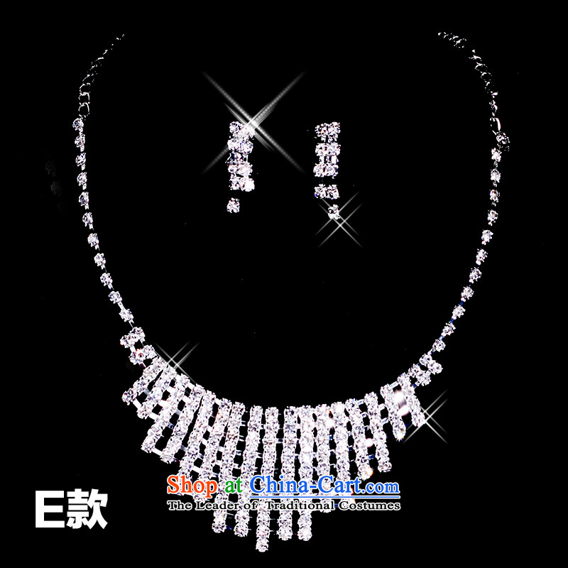 Tim hates makeup and wedding accessories Crystal Necklace earrings alloy necklace wedding mix of classic TS005 value recommended?E are code