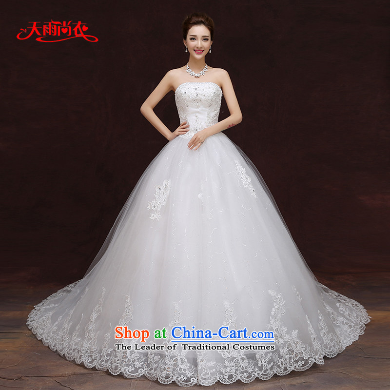 Rain was聽anointed with the new 2015 Yi chest wedding dresses spring and summer Korean brides align to Sau San video thin nail diamond wedding white HS893 pearl white streak of tailored
