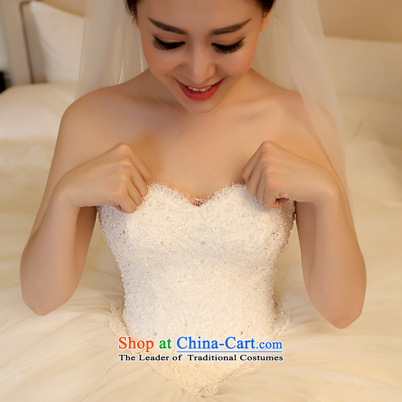 Kyrgyz-US married arts wedding dresses Summer 2015 new Korean anointed chest lace video thin bon bon skirt 7796 bride wedding1.5 m tail15 day shippingXS, Kyrgyz-US married arts , , , shopping on the Internet