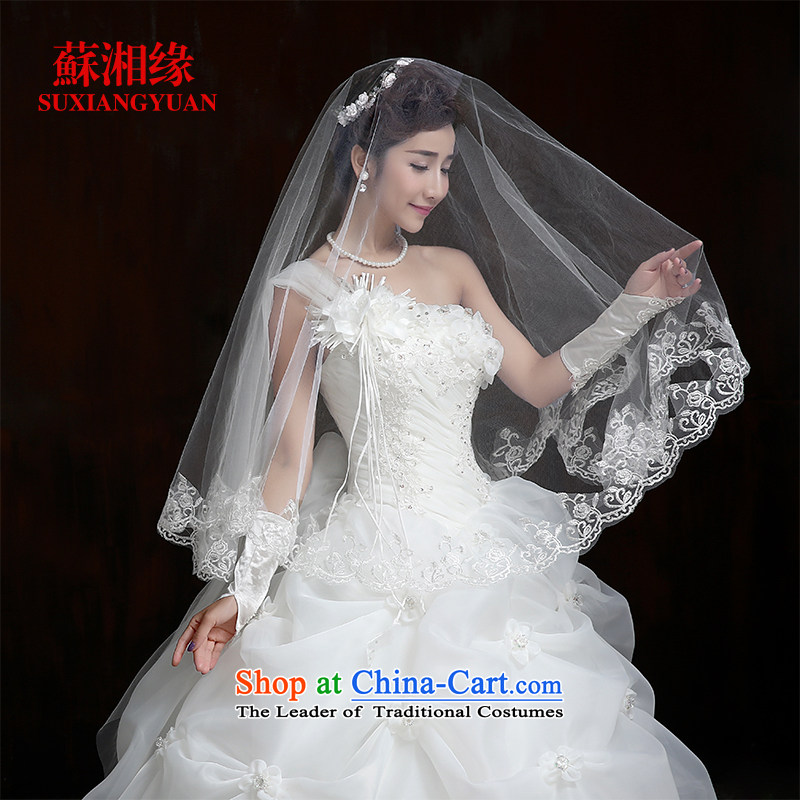 Su Xiang Edge?2015 new stylish wedding dresses Korean style to align the shoulder larger Fat MM video thin wedding tail?L