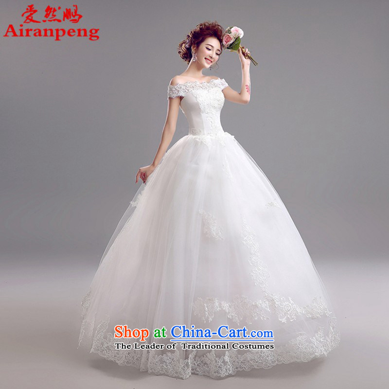 Korean bridal lace a shoulder straps back to align the princess wedding dresses 2015 won the new 5956 version XXL package returning