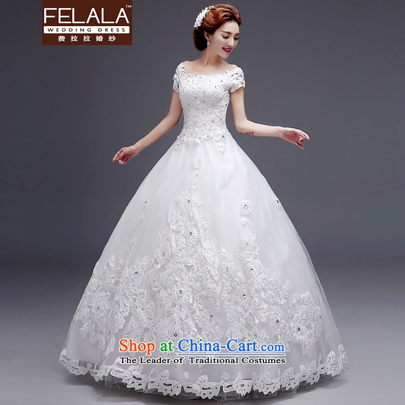 Ferrara 2015 new Korean sweet princess van diamond lace bon bon skirt wedding winter XL(2 feet 2)