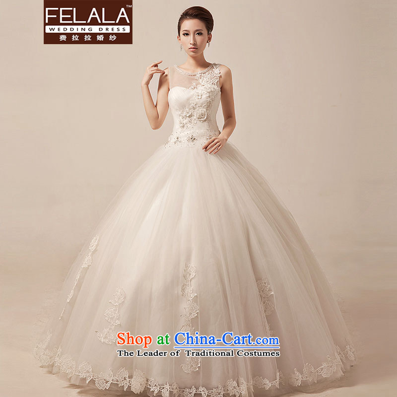 Ferrara?2015 new word shoulder lace wedding Korean brides to align the sweet white bon bon yarn spring?S?Suzhou Shipment