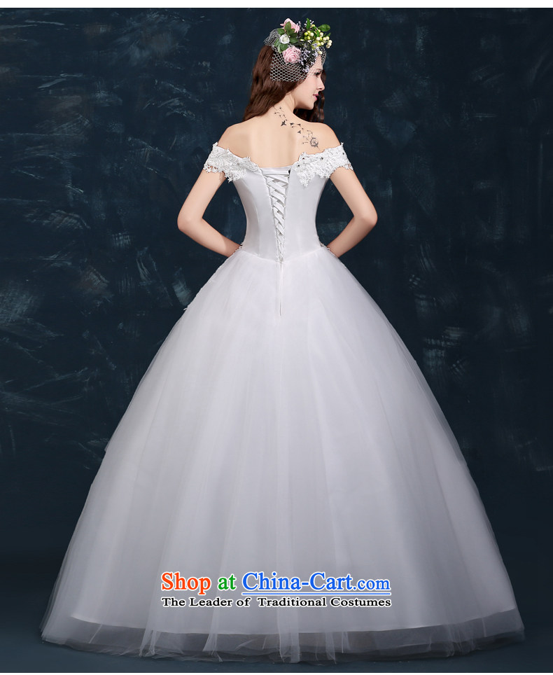 Wedding dress 2015 new winter trendy first field to align the shoulder marriages wedding lace straps large white M picture, prices, brand platters! The elections are supplied in the national character of distribution, so action, buy now enjoy more preferential! As soon as possible.