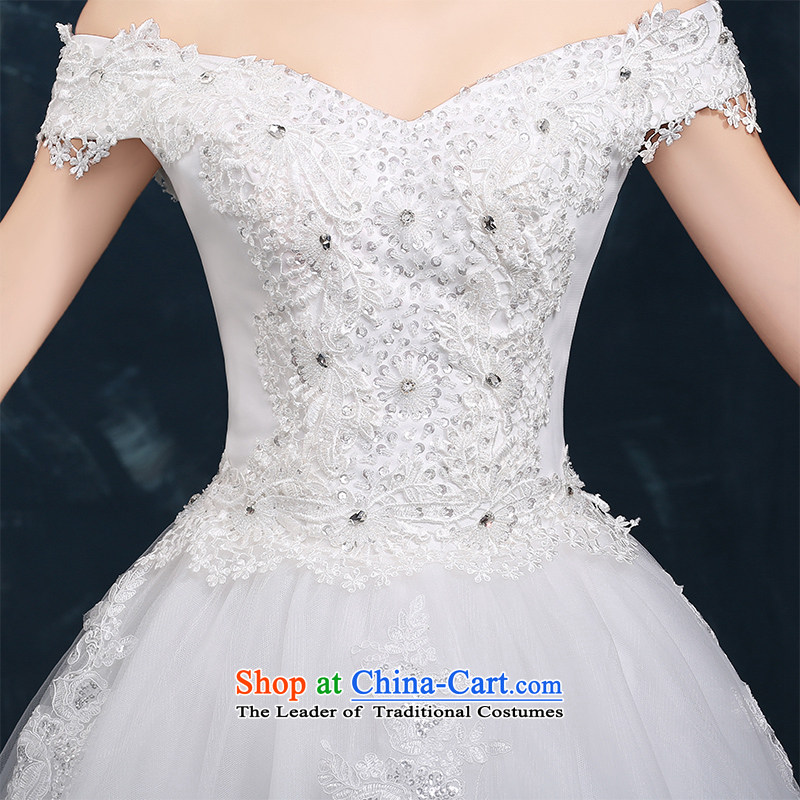 Wedding dress 2015 new winter trendy first field to align the shoulder marriages wedding lace straps for larger White M Kidman (nicole richie) , , , shopping on the Internet
