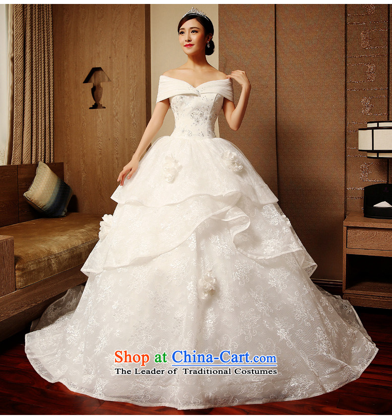 The word tslyzm shoulder wedding dress large tail bride Wedding 2015 new autumn and winter marriage continental palace retro luxurious White XXL picture, prices, brand platters! The elections are supplied in the national character of distribution, so action, buy now enjoy more preferential! As soon as possible.
