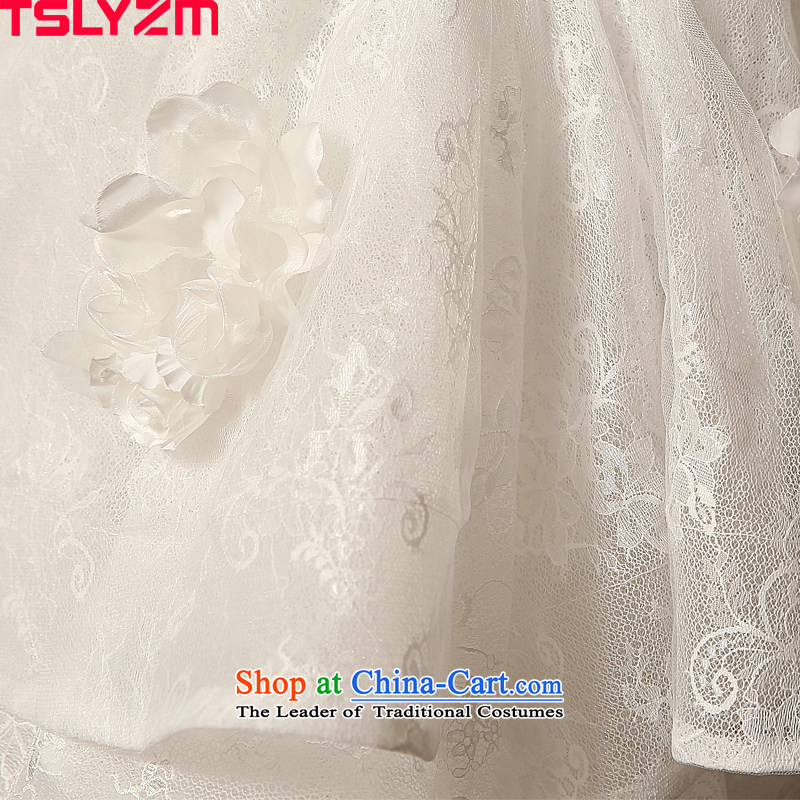The word tslyzm shoulder wedding dress large tail bride Wedding 2015 new autumn and winter marriage continental palace luxurious whiteXxl,tslyzm,,, antique shopping on the Internet