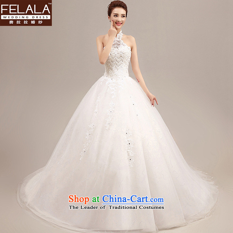 Ferrara wedding dresses 2015 new autumn Korean Word Hangs must also shoulder the winter wedding tail align to marriages video thin tail + shawl M_2 feet_