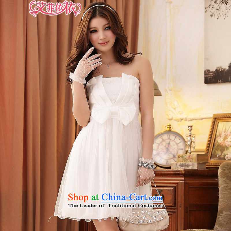 Of the?Korean version of the new 2015 reft of short, under the auspices of marriage bridesmaid sisterly large drives in Princess Victoria code yarn yarn wedding dresses and chest dresses 3828 m White are code