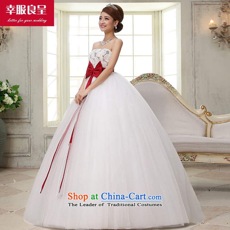 The privilege of serving-leung wedding dresses 2015 new bride Korean Top Loin of pregnant women married Mary Magdalene chest code thick mm white wedding $+48 3 piece?concept package by 2XL-- Province $10