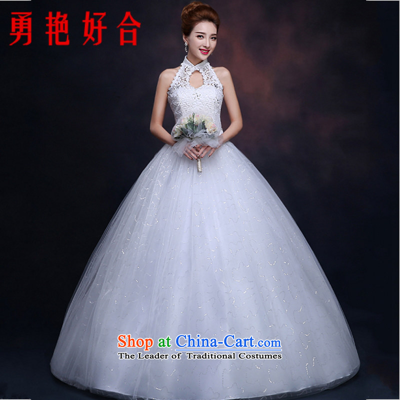 Yong-yeon and new 2015 winter bride larger alignment to hang the history of Sau San Tie Korean winter, wedding made no size White Replacement