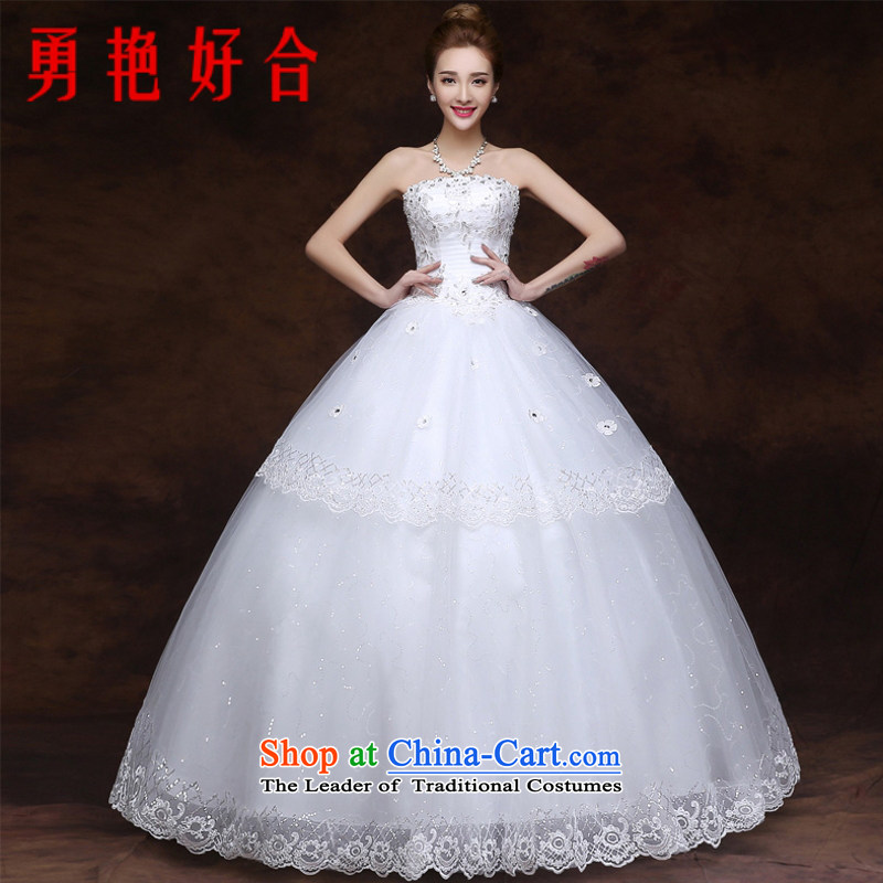 Yong-yeon and wedding dresses 2015 new sweet autumn and winter marriages to his chest and large video thin white to Sau San size not refunded