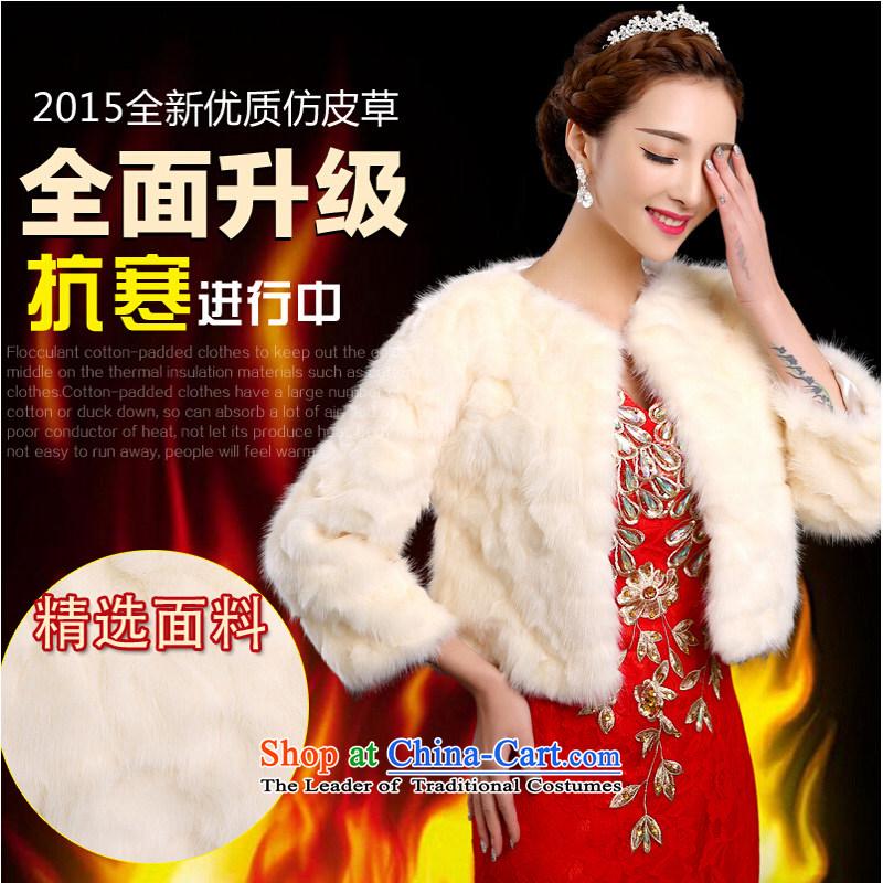 Pure Love bamboo yarn, widen the intensity of 2015 winter wedding shawl marriage shawl thick hair shawl Korean bridal shawl warm jackets with sleeve shawl shawl are code