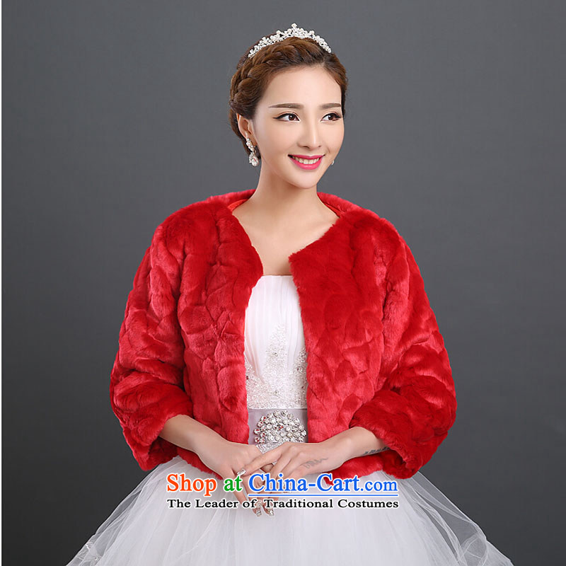 2015 new bride gross shawl married women wedding dresses shawl winter, shawl duplex gross thick white red with sleeves shawl are code