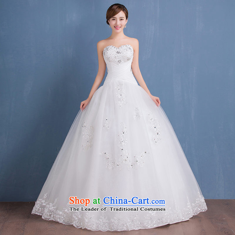 Wedding dress skirt 2015 new wiping the chest and the Republic of Korea to align the diamond wedding align to make exports to the EU, white size does not accept return