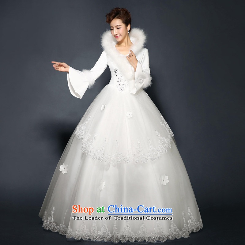 Winter, Bridal Suite?2015 new stylish winter) cotton long-sleeved bride folder diamond double zipped gross for wedding video thin large wedding thick winter) White?S  ?Suzhou Shipment