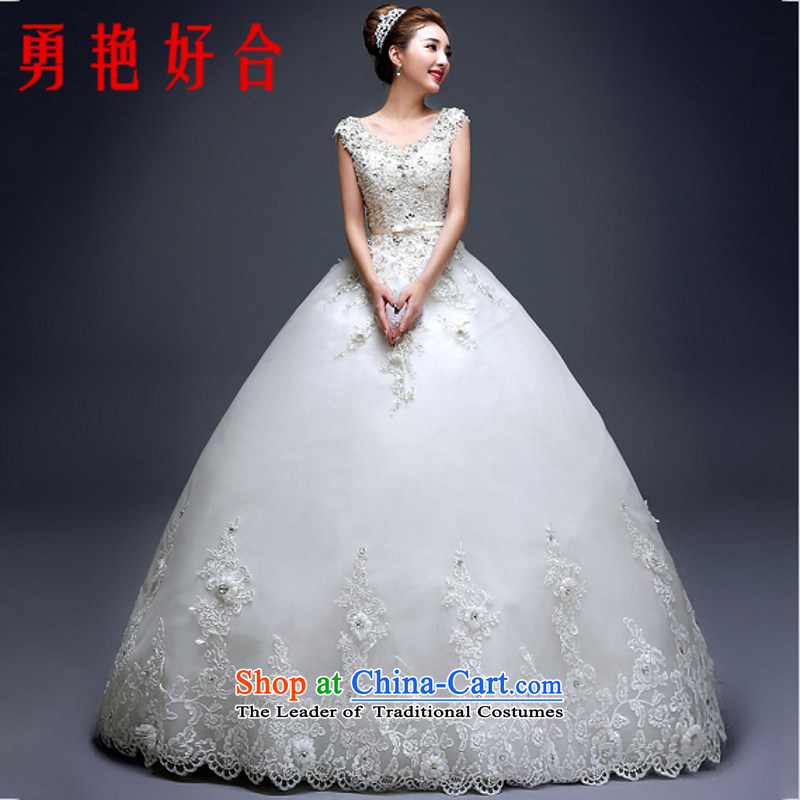 Yong-yeon and autumn and winter shoulders wedding dresses new 2015 Summer large Korean diamond minimalist to align the Sau San marriages as the size of the White not refunded