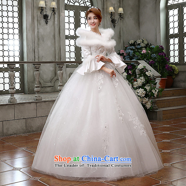 Qing Hua2015 winter new yarn wedding Korean brides princess long-sleeved folder cotton warm wedding dress party 02 Princess WhiteXL Photo, prices, brand platters! The elections are supplied in the national character of distribution, so action, buy now enjoy more preferential! As soon as possible.