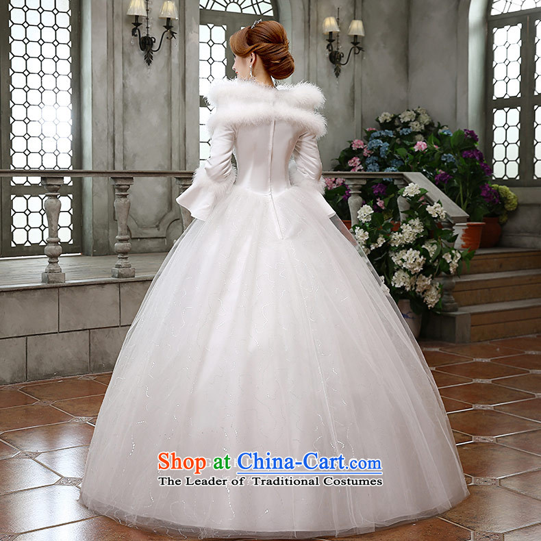 Qing Hua 2015 winter new yarn wedding Korean brides princess long-sleeved folder cotton warm wedding dress party 02 Princess White XL Photo, prices, brand platters! The elections are supplied in the national character of distribution, so action, buy now enjoy more preferential! As soon as possible.