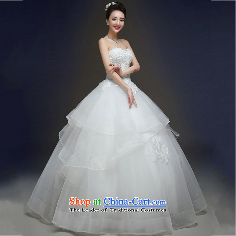 Yong-yeon and autumn and winter wedding dresses new stylish marriages and 2015 chest lace straps to align the white M Yong-Yan Sau San Close shopping on the Internet has been pressed.