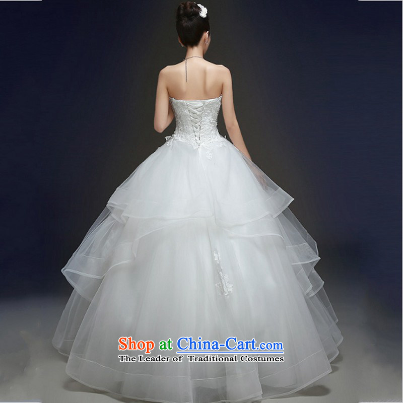 Yong-yeon and autumn and winter wedding dresses new stylish marriages and 2015 chest lace straps to align the whiteM Yong-Yan Sau San Close shopping on the Internet has been pressed.