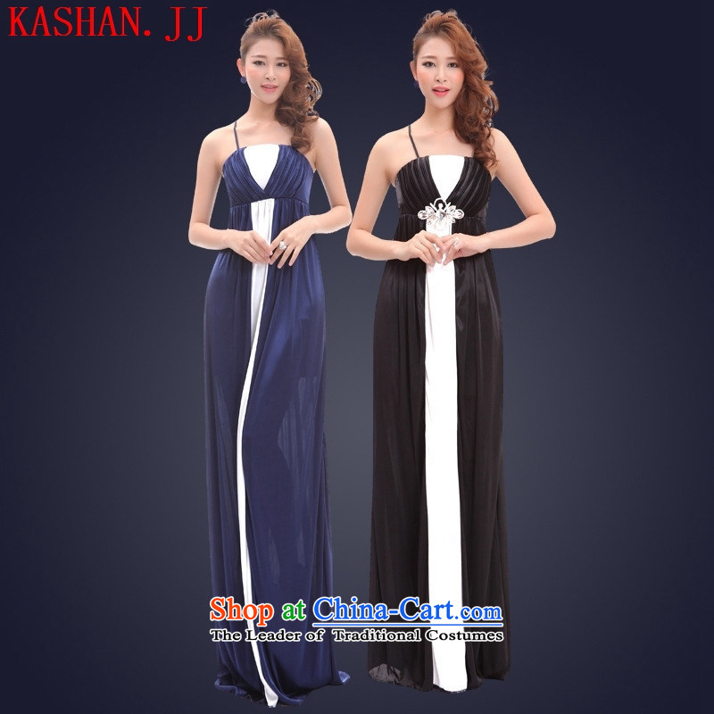 The pregnant woman's-hwan 2015 replacing anointed chest evening dresses dresses long sexy nightclubs annual banquet show car models loose blue?XL