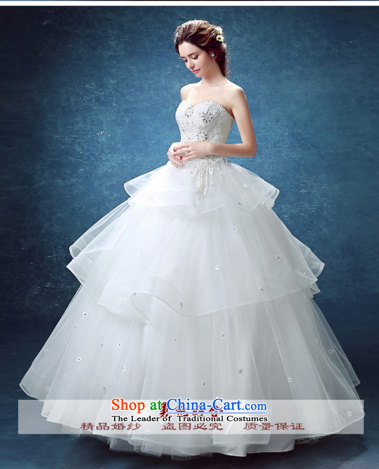 Yong-yeon and wedding dresses 2015 new bride stylish anointed chest lace align to smearing minimalist Korean autumn and winter bon bon skirt white S picture, prices, brand platters! The elections are supplied in the national character of distribution, so action, buy now enjoy more preferential! As soon as possible.