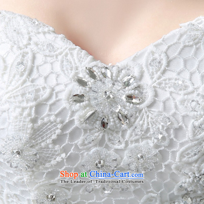 Yong-yeon and wedding dresses 2015 new bride stylish anointed chest lace align to smearing minimalist Korean autumn and winter bon bon skirt white S, Yong-yeon and shopping on the Internet has been pressed.