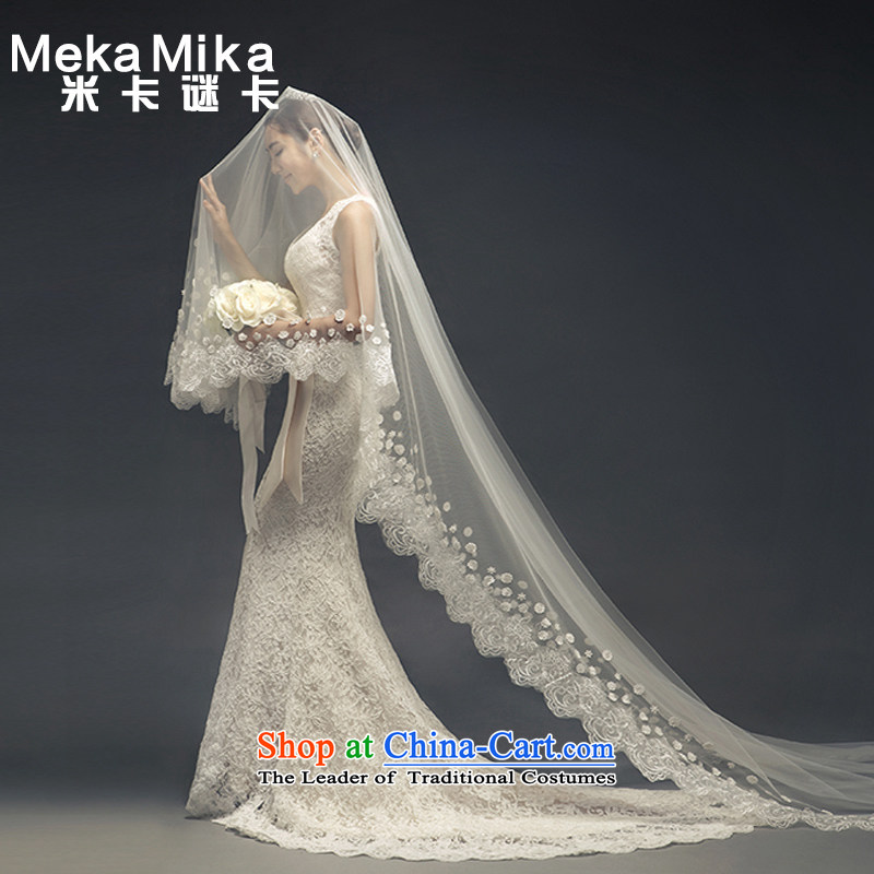 M card mystery card 2015 winter eternal romantic wedding bride foutune shoulders crowsfoot Korean brides wedding dresses wedding聽M